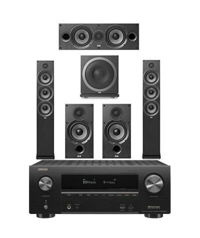 5.1 namų kino sistema DENON AVR-X2500H + ELAC Debut 2.0