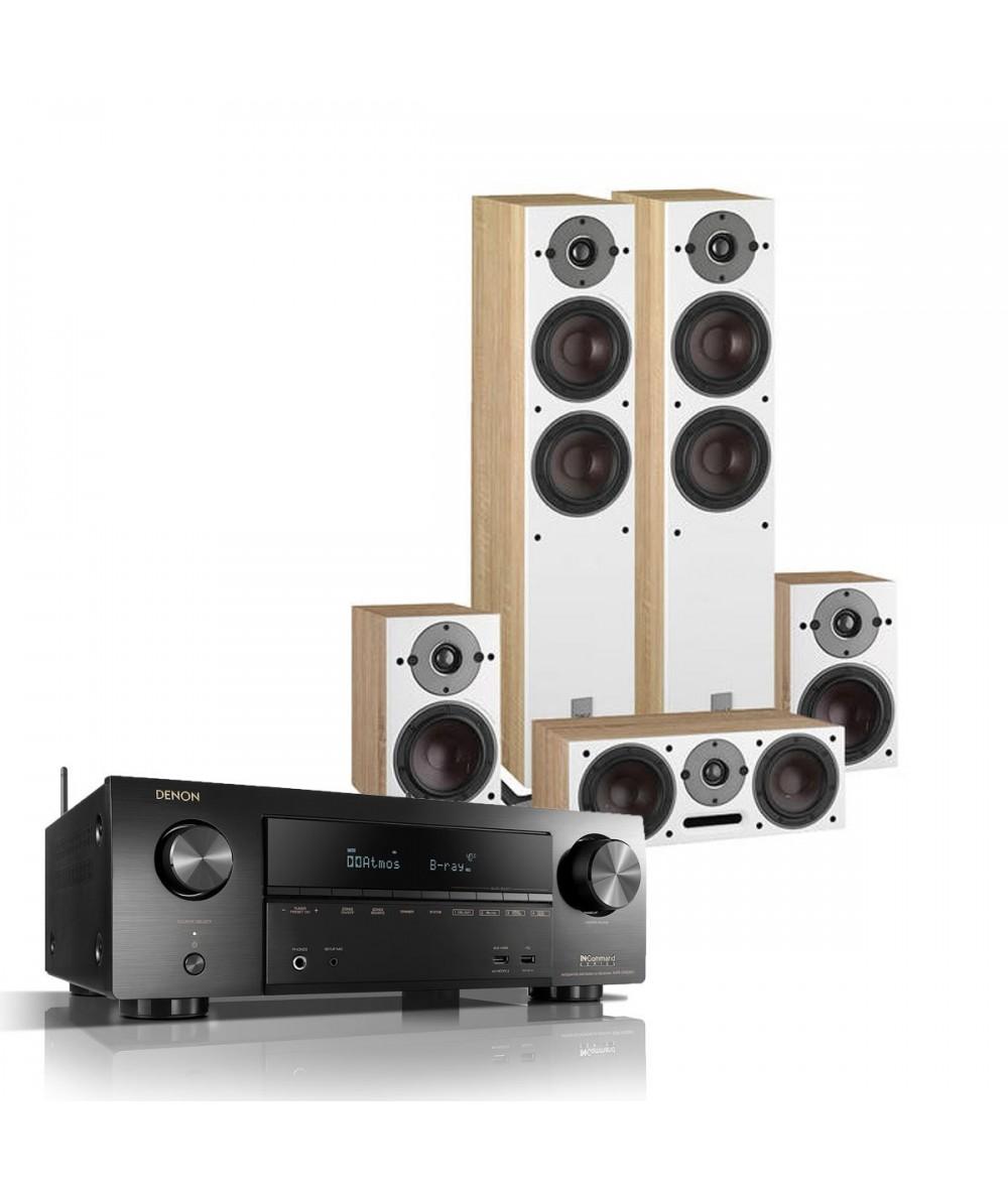 Denon AVR-X1600H + DALI Oberon 5 / 1 / Vokal - Namų kino sistemos