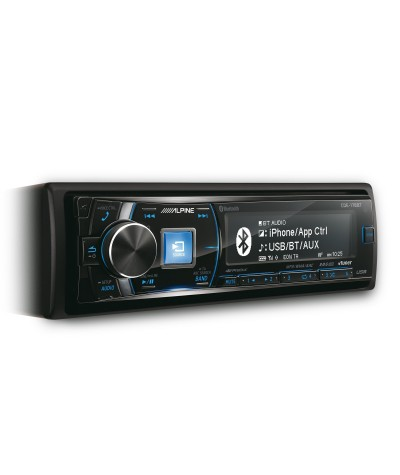 Alpine CDE-178BT CD grotuvas su USB