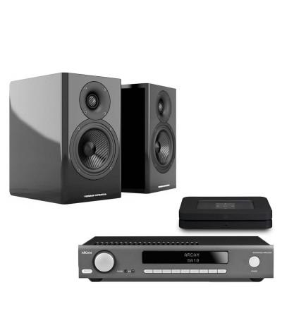 Arcam SA10 + Acoustic Energy AE500 + Bluesound Node 2i - Stereo komplektai