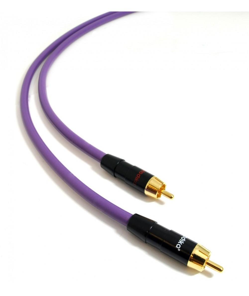 Melodika Purple Rain RCA tarpblokinis kabelis