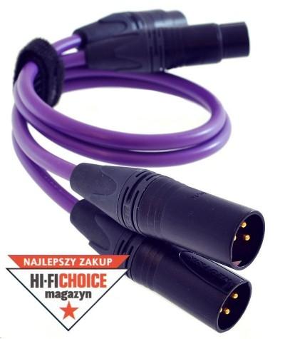 Melodika Purple Rain XLR tarpblokinis kabelis