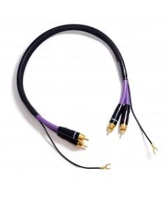 Melodika Purple Rain RCA kabelis patefonui - Tarpblokiniai kabeliai