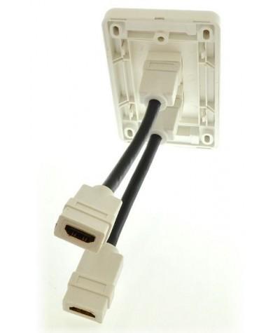 Melodika sieninė 2xHDMI jungtis - Instaliacijai