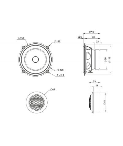 BLAM Relax 130RS komponentiniai garsiakalbiai - Komponentiniai garsiakalbiai