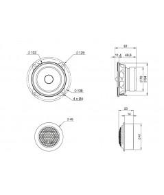 BLAM Relax 100RS komponentiniai garsiakalbiai automobiliui - Komponentiniai garsiakalbiai
