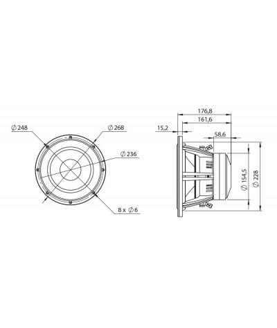 BLAM Super Sub 10 žemų dažnių garsiakalbis - Žemų dažnių garsiakalbiai