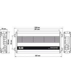 BLAM Relax RA 804D 4 kanalų garso stiprintuvas automobiliui - Stiprintuvai